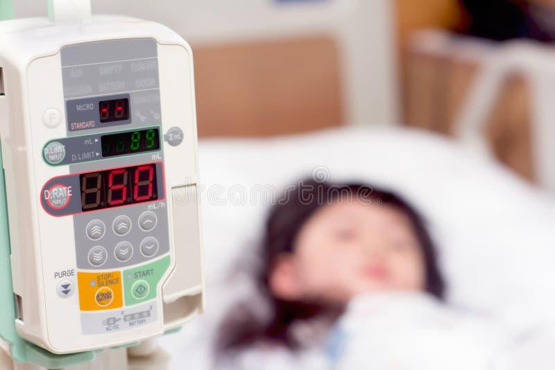 Dziewczyny chore w szpitalu zdjęcie stock