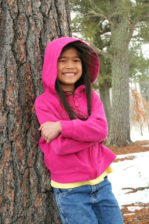 Dziewczyny cieszy się zima fotografia stock