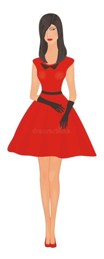 dziewczyny czerwień fotografia royalty free