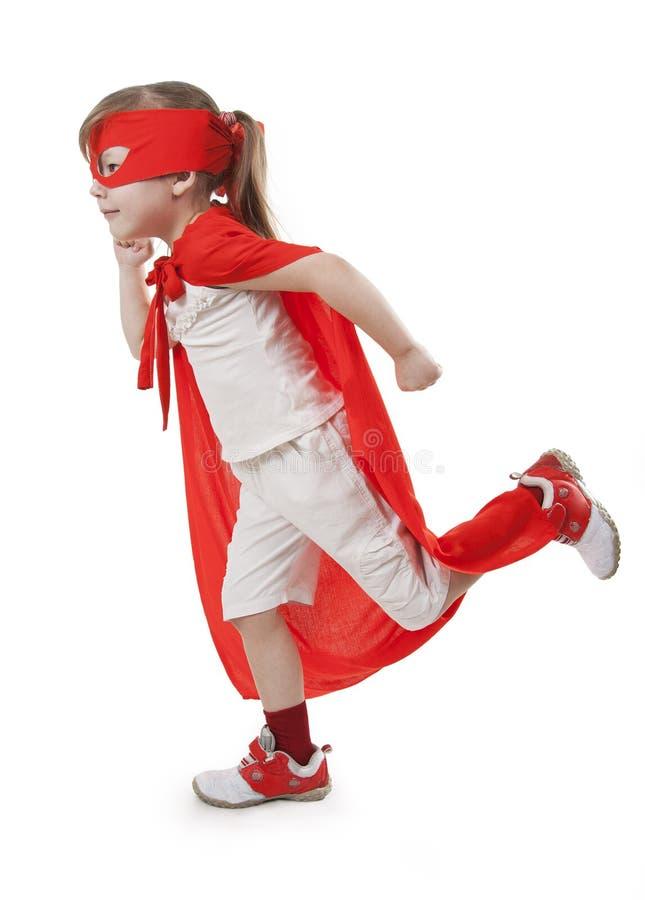 dziewczyny czerwieni bohater zdjęcie stock