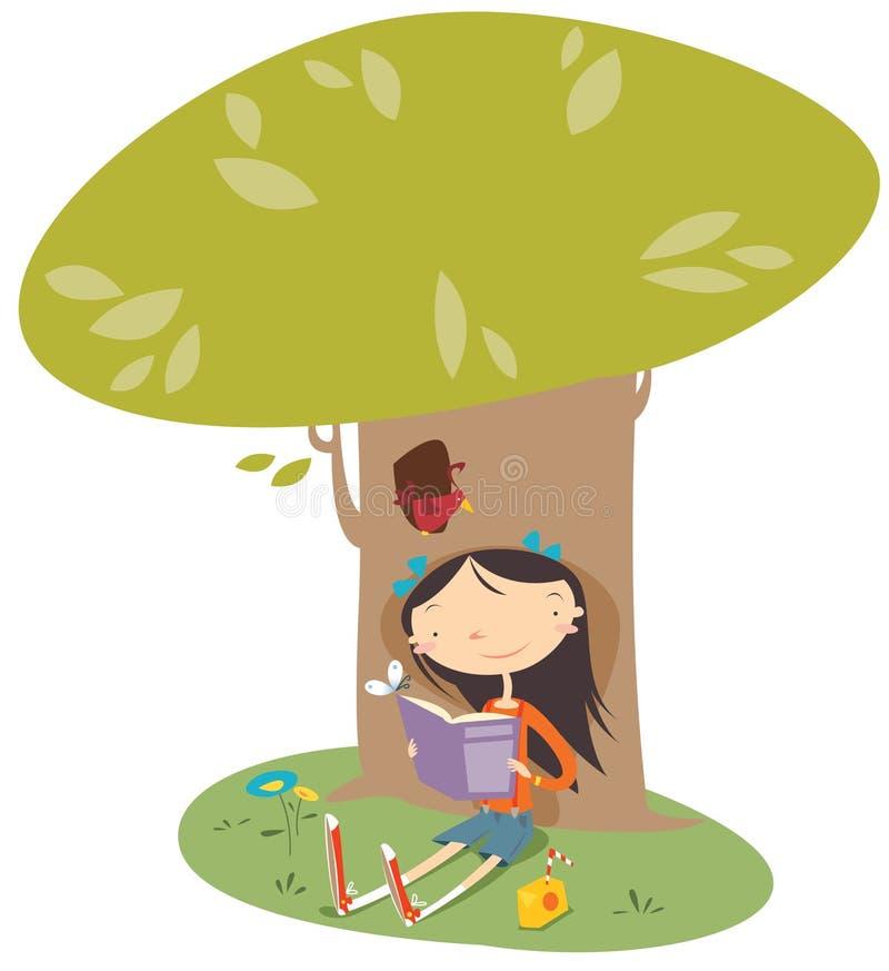 dziewczyny czytanie royalty ilustracja