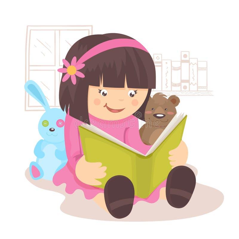 dziewczyny czytanie książki royalty ilustracja