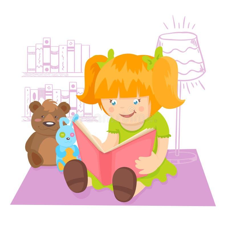 dziewczyny czytanie książki ilustracja wektor