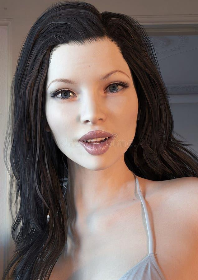 Dziewczyny 3D model obrazy royalty free