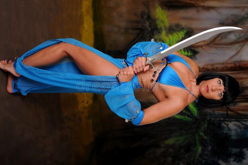 dziewczyny dancingowej miecz obraz royalty free