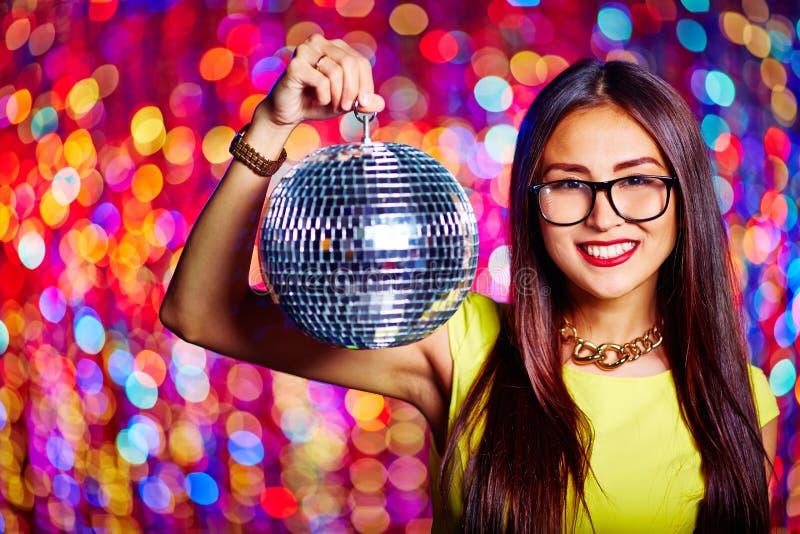 dziewczyny disco strony czerwony obraz stock