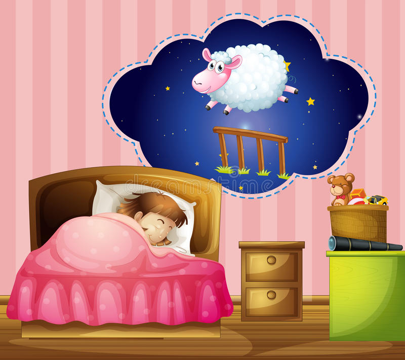 dziewczyny do spania ilustracja wektor