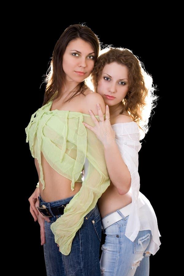 dziewczyny dosyć seksowni dwa fotografia royalty free