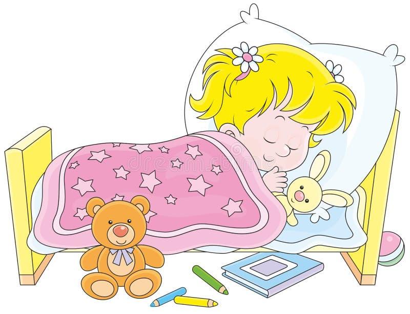 dziewczyny dosypianie ilustracji
