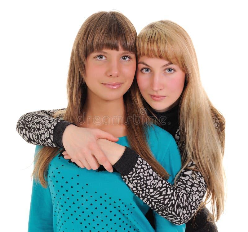 dziewczyny dwa obraz royalty free