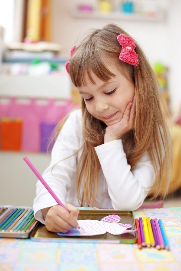 dziewczyny dzieciaka mały obraz obraz royalty free