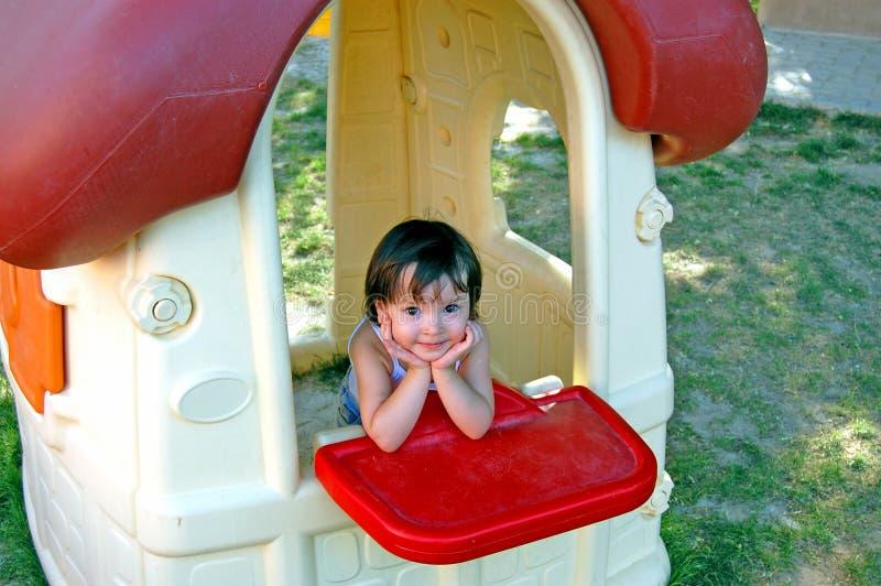 dziewczyny dziecka jest wioska zdjęcie stock