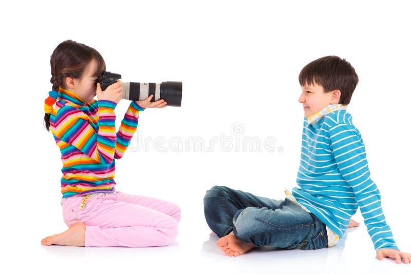 dziewczyny fotografii zabranie obraz stock