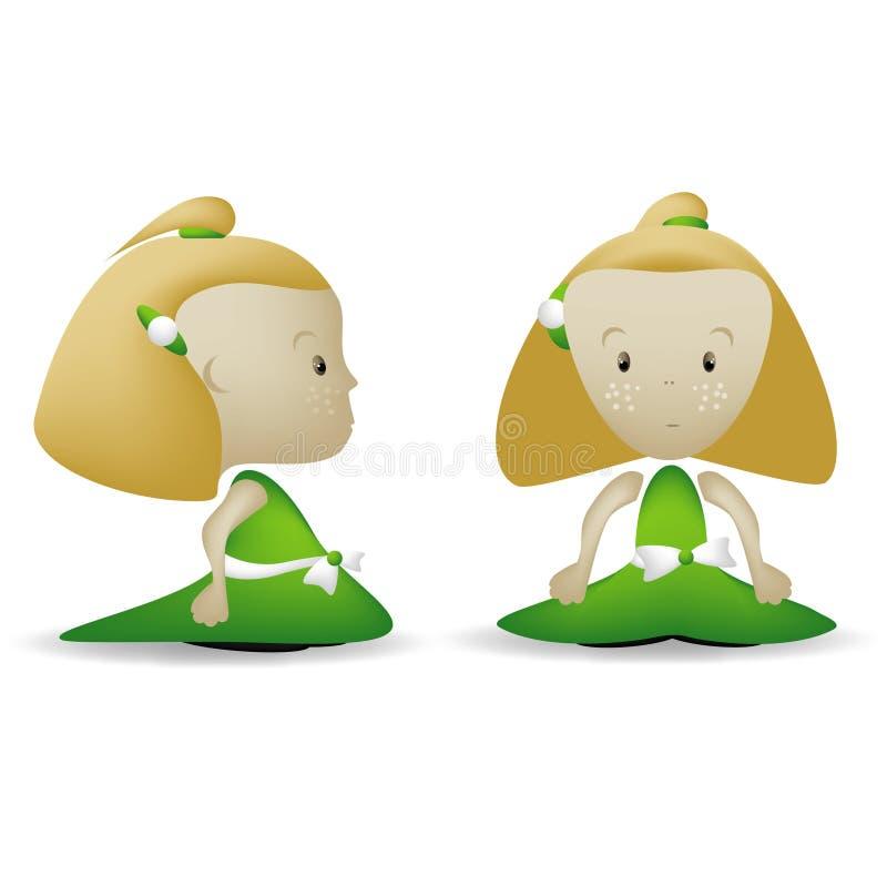 dziewczyny frontowa zieleń fotografia stock