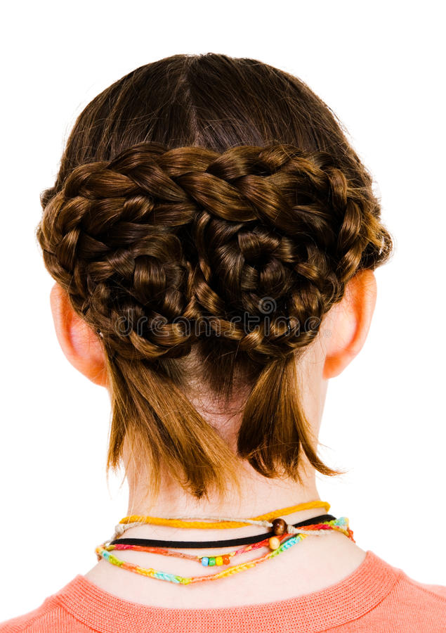 dziewczyny fryzura obrazy royalty free