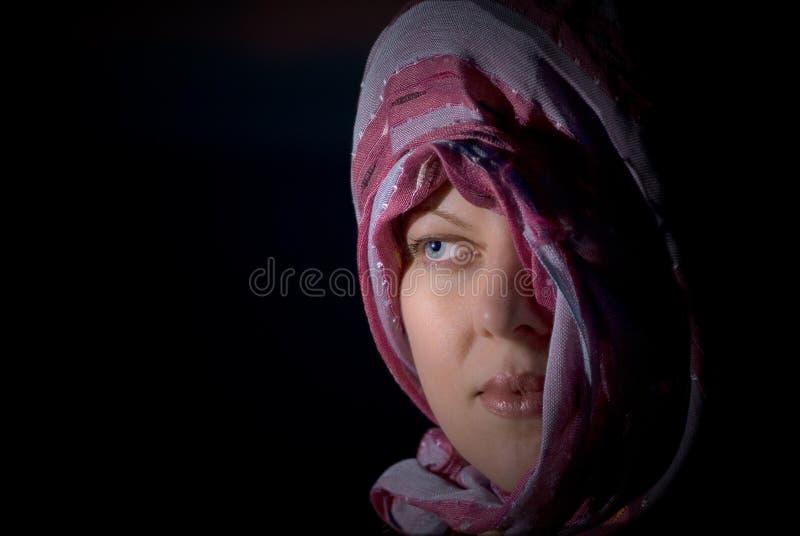 dziewczyny głowa jej przesłona zdjęcia royalty free