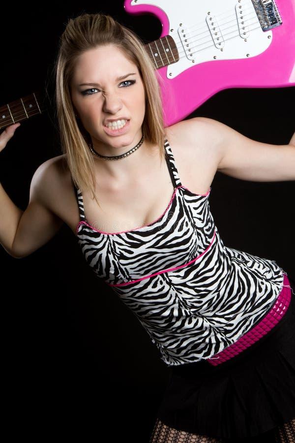 dziewczyny gitary ruch punków zdjęcia stock