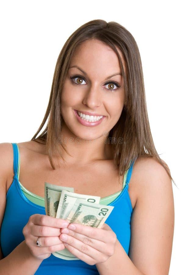 dziewczyny gospodarstwa pieniądze zdjęcia royalty free