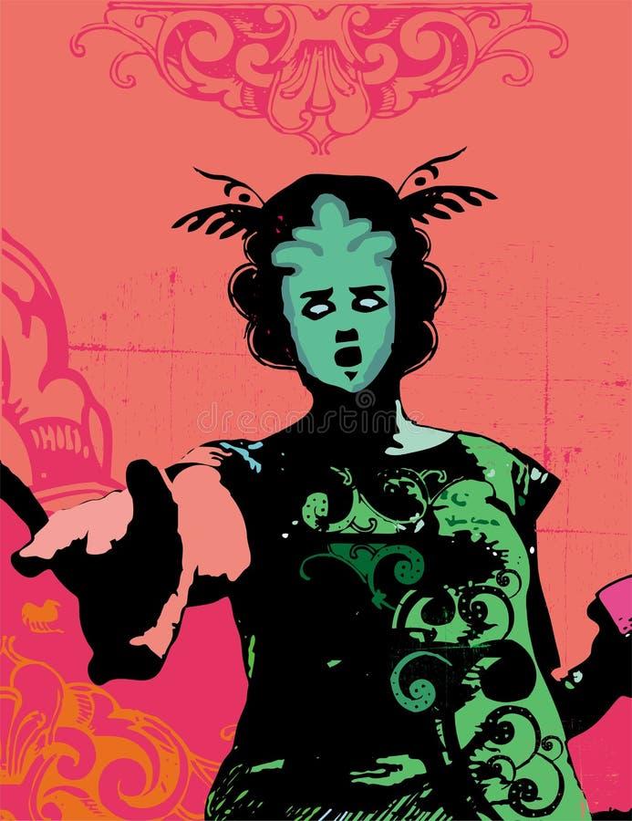 dziewczyny grunge wektora royalty ilustracja