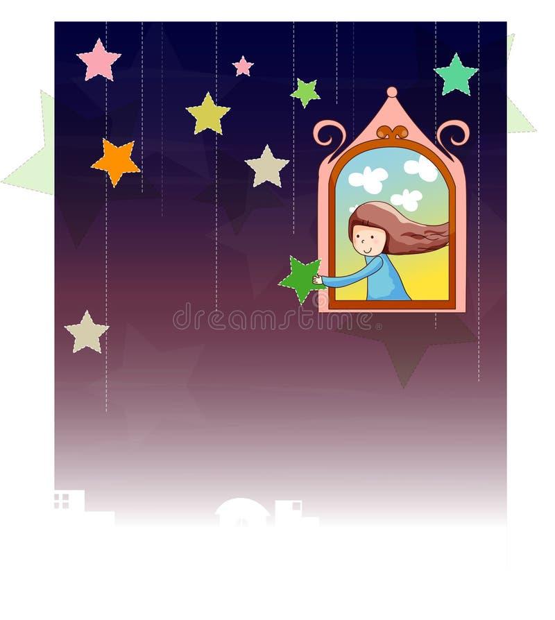 dziewczyny gwiazda ilustracja wektor