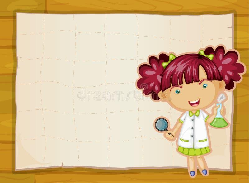 Dziewczyny i papieru prześcieradło ilustracja wektor