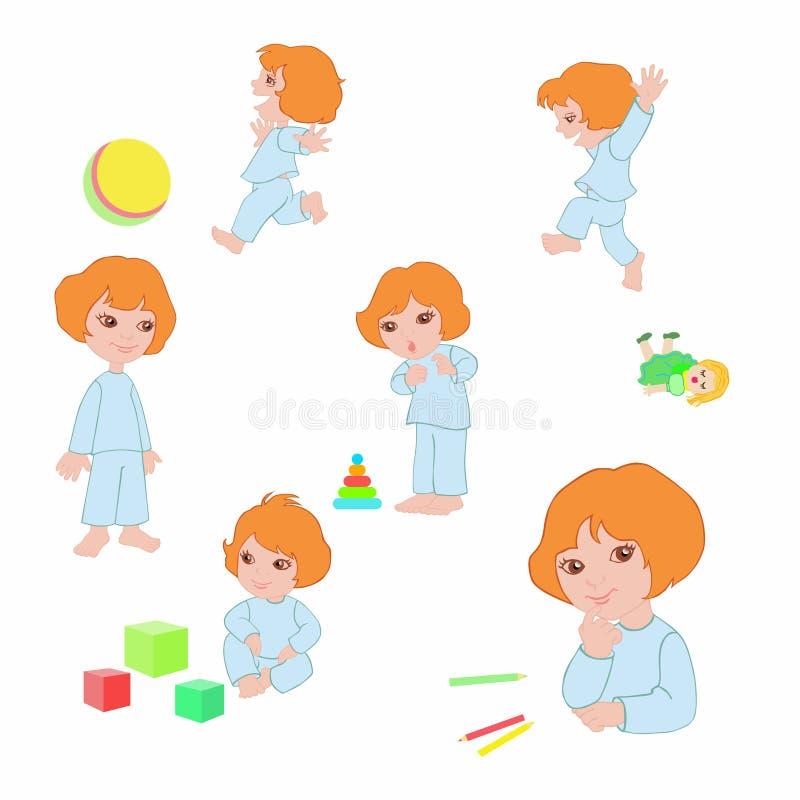 dziewczyny ikon zabawki royalty ilustracja