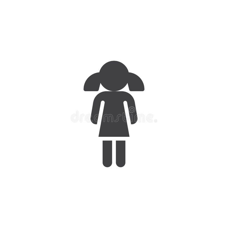 Dziewczyny ikony wektor ilustracja wektor