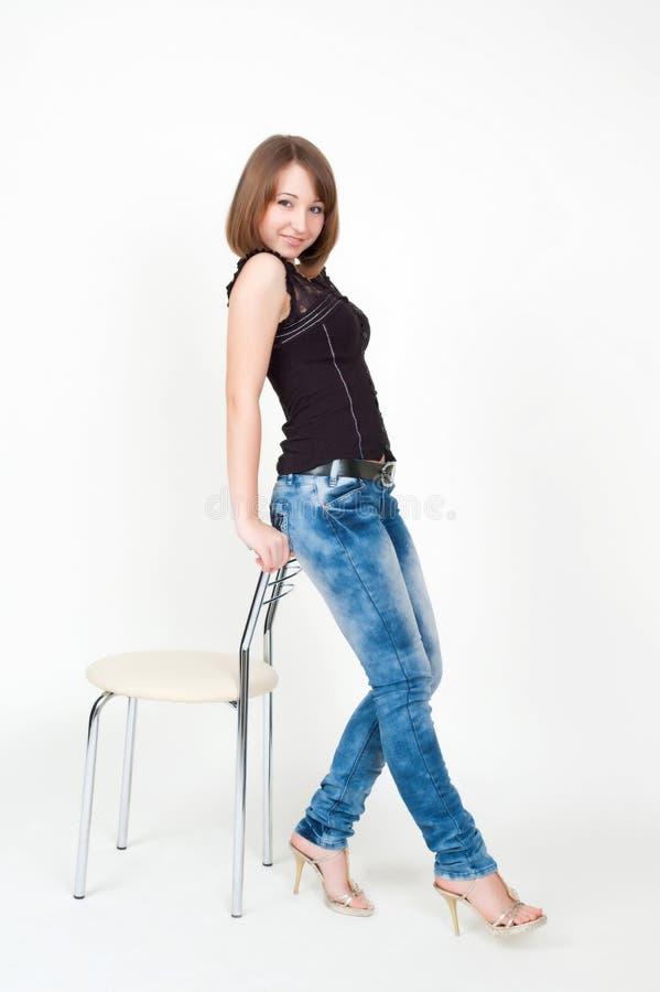 dziewczyny ja target882_0_ dobry zdjęcie stock