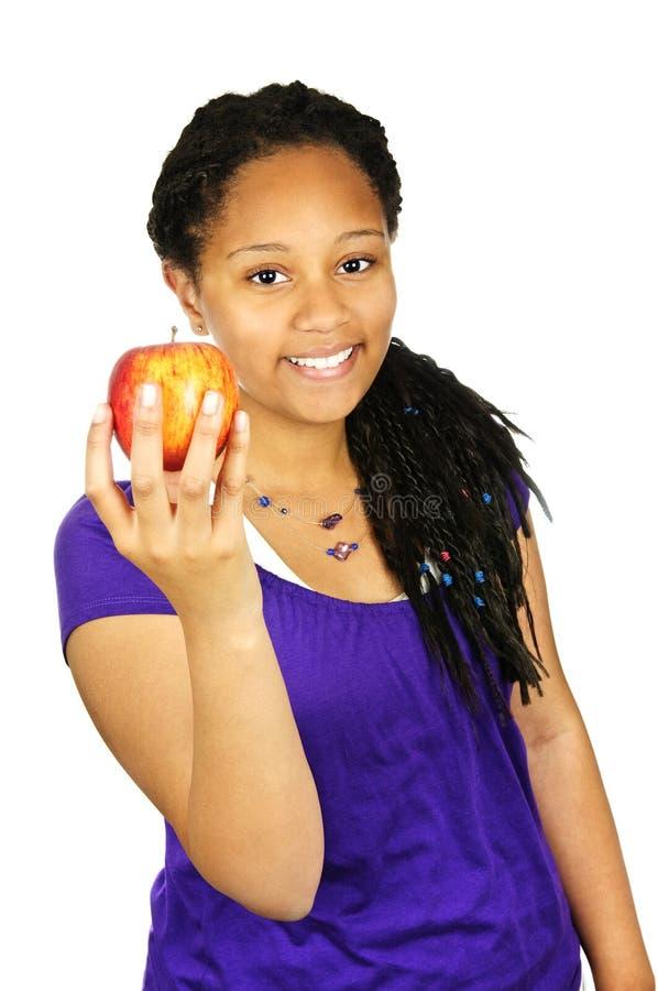 dziewczyny jabłczany mienie obraz stock