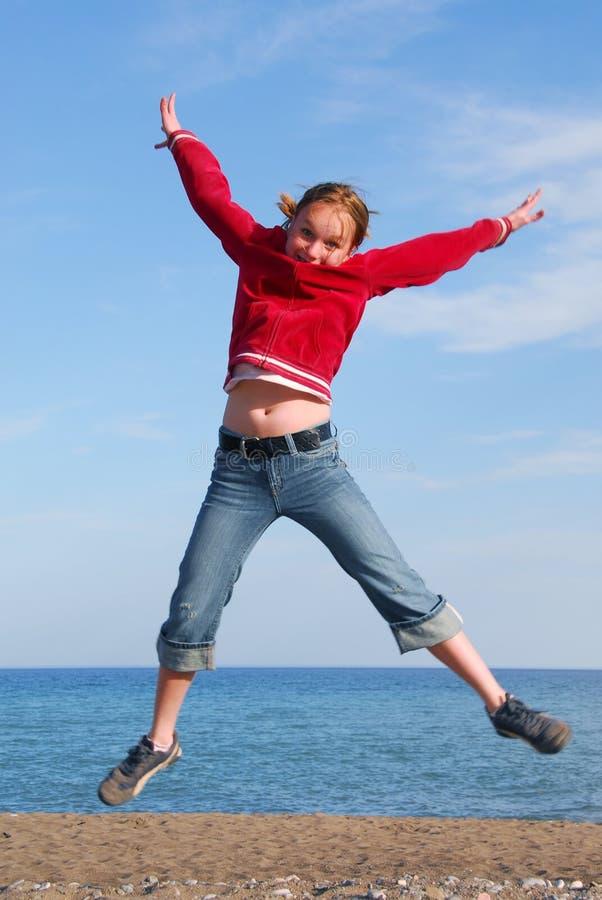 dziewczyny jumping fotografia royalty free