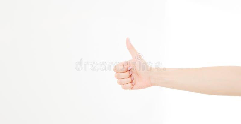 Dziewczyny, kobiety ` s ręka pokazuje jeden jak obliczenie odizolowywający na białym tle lub Egzamin próbny Up kosmos kopii szabl zdjęcia royalty free
