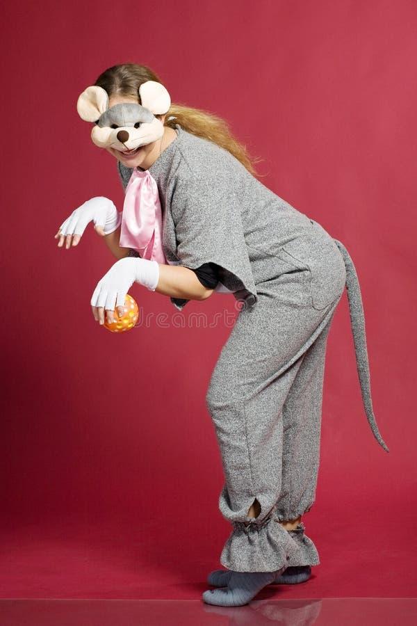 dziewczyny kostiumowa mysz obrazy stock