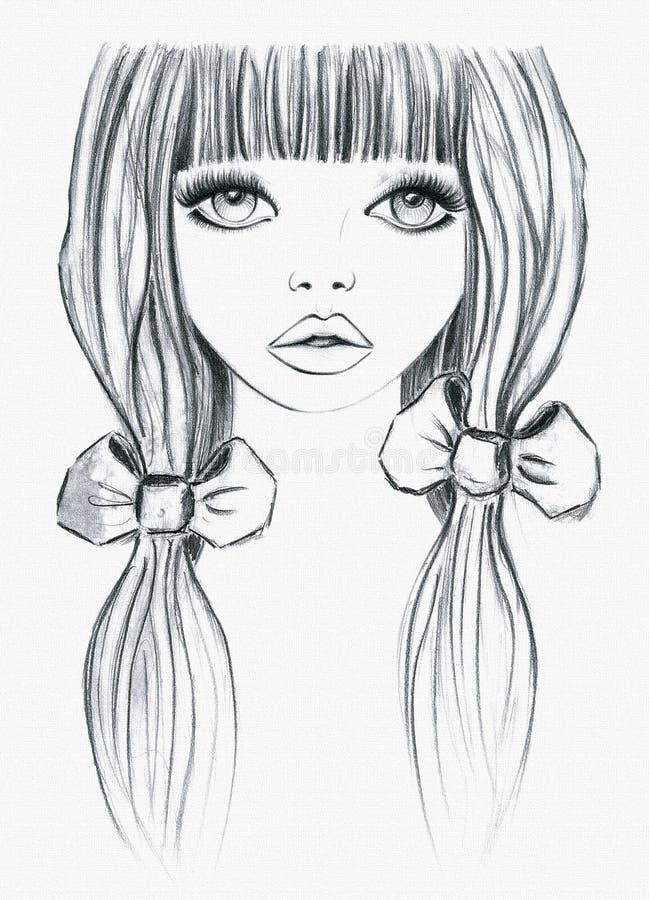 Dziewczyny kresk?wki ilustracja, koszulki grafika ilustracji