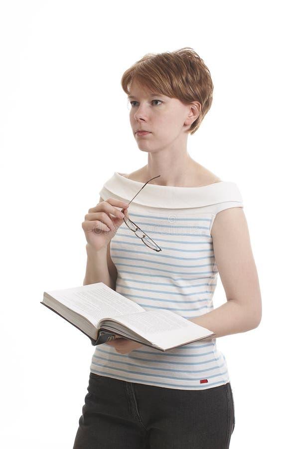 dziewczyny książkowy gospodarstwa obrazy royalty free