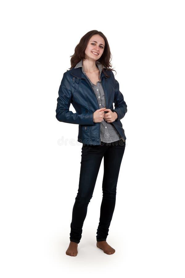 dziewczyny kurtki skóra fotografia stock