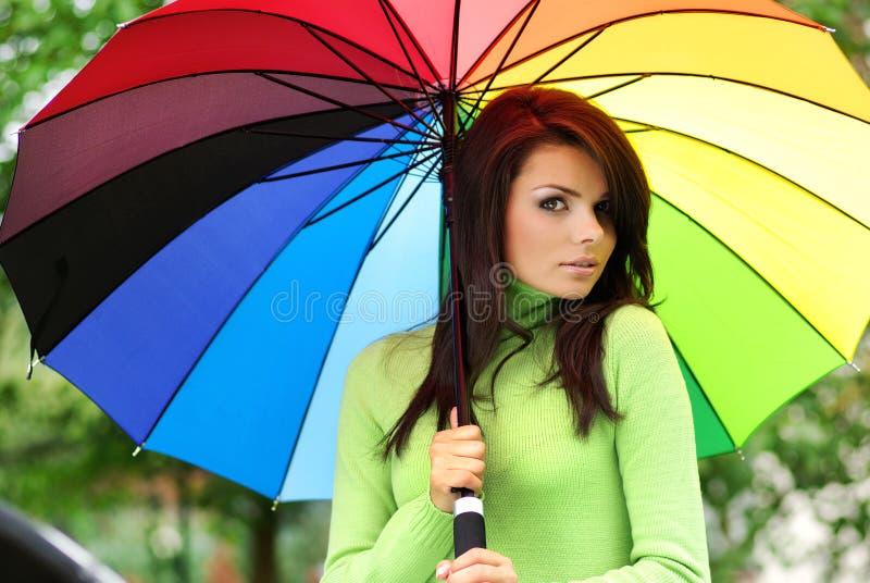 dziewczyny lato parasol zdjęcie royalty free