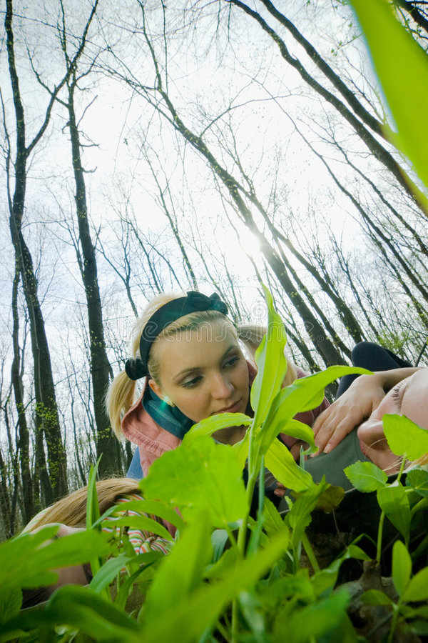 Download Dziewczyny leśne zdjęcie stock. Obraz złożonej z zabawa - 2505496