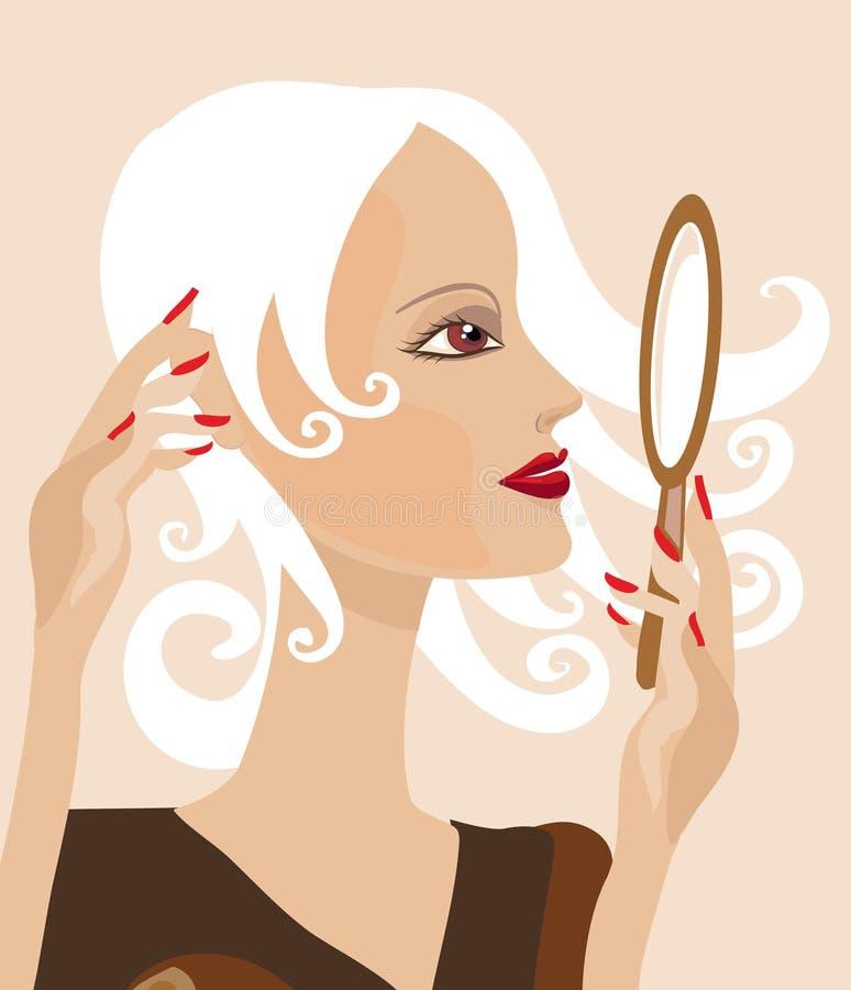 dziewczyny lustro ilustracji