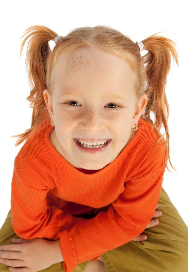 dziewczyny mały szczęśliwy obraz stock