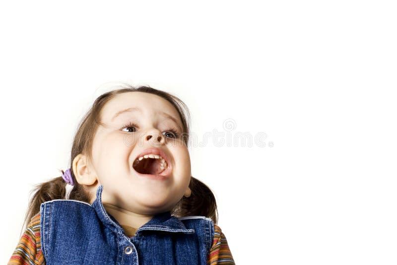 dziewczyny mały szczęśliwy zdjęcie stock