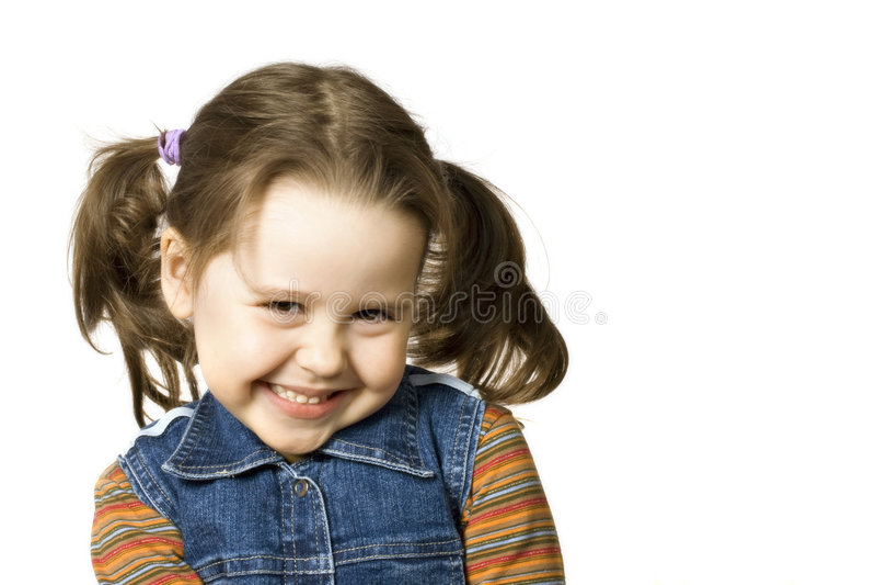 dziewczyny mały szczęśliwy zdjęcia royalty free