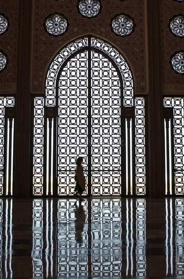 dziewczyny meczetowa sylwetka obrazy stock