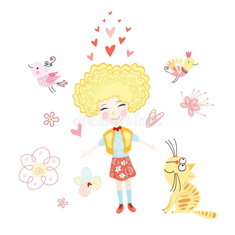 dziewczyny miłość royalty ilustracja