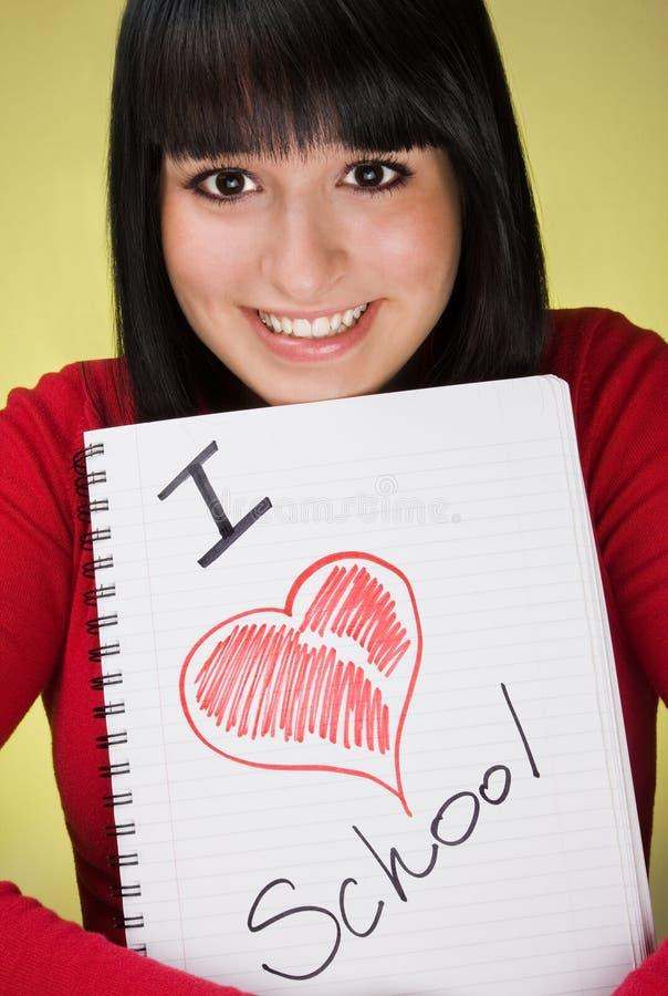 dziewczyny mienia notatnika potomstwa fotografia royalty free