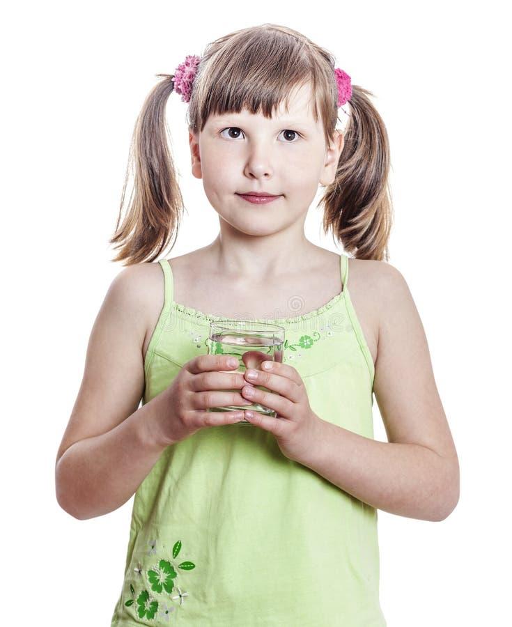 Dziewczyny mienia woda obraz stock