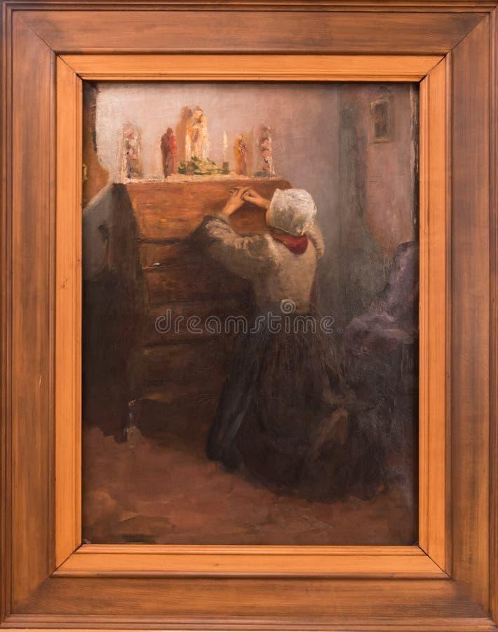 Dziewczyny modlenie Pierre Auguste Renoir zdjęcie stock