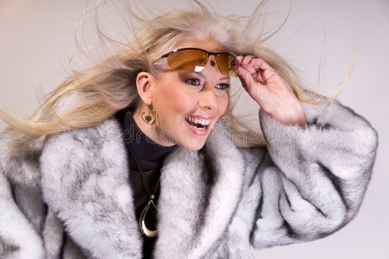 dziewczyny mody zimy. fotografia stock