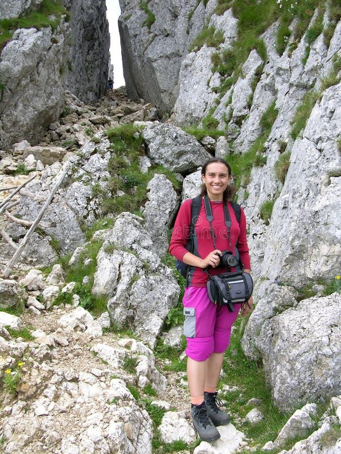dziewczyny mountain gwiazd zdjęcie royalty free