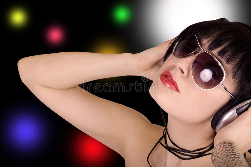 dziewczyny muzyka zdjęcie stock