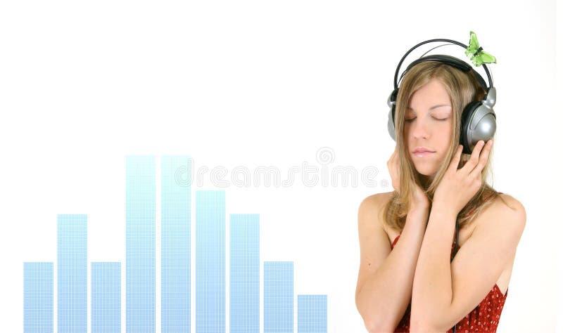 dziewczyny muzyki zdjęcia stock